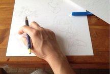 """""""i wish you ...""""  """"us desitjo ..."""" / oil & pencil on cherry wood · oli & llapis sobre fusta de cirerer * watercolor on paper · aquarel·la sobre paper *"""