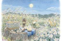 KARIN KANZAKI ,Illustrator / Landscape painting