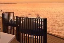 Sunsets Over Decking / What better way to watch the sunset than on a decked balcony or platform.