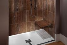 """Universal Design in the Bath / Universal design addresses the needs and abilities of people of all ages. Sometimes referred to as """"multi-generational design"""", it combines safety and comfort with style and beauty to create an end product that is attractive, versatile and practical. Universal Design principles are especially applicable in the bathroom, a space that even the most able-bodied person can find difficult to navigate at times."""