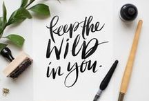 Paper & Ink / Lettering and art and the things they reside in. // handlettering, journaling, hand lettering, sketchbooks, journals, ink illustrations, black and white art, monochrome art, calligraphy, quotes, design
