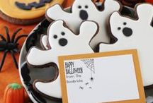 Halloween Stamps / Boo! Halloween Stamps for your party invitations, trick or treat bags or for kids parties.