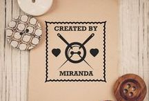 Made By Stamps / Personalized stamps for gifts that you've made!
