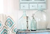 Vintage Bottles / Apothecary, pharmacy bottles and siphons are my favorite Vintage Bottles. You can decorate your home almost everywhere with them, you can play with different colors, sizes. You can fill them with sand, stones, flowers or shells! They are gorgeous! Have a look if I have some in stock right now and visit: www.laboutiquevintage.co.uk
