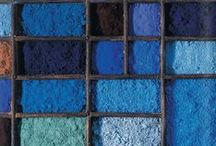 Shades of the Blues / Random Shades of Blue from Soft Grey Blue to Electric Blue