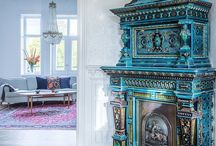 Swedish Tiled Stoves | Kakelugnar / Historic tiled stoves from high-end apartments in Stockholm
