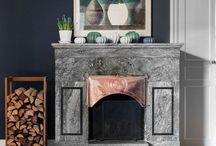 Open fireplaces / Classic fireplaces from high-end apartments in Stockholm