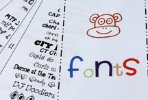 I Love FONTS! / by Annie Moffatt