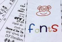 I Love FONTS! / by Annie Moffatt