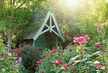 Garden Sheds, Garage & Yard / Beautiful stuff for the garden to inspire, comfort and nurture the spiritual side. Includes details for composting, water features, outdoor furniture, stone paths, landscapes, and art. See other boards: Herb Garden, Flower Garden and Veggie Garden for other, related posts.