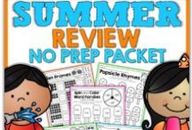 "Summer Activities / Say bye to the ""summer slide"" with these great ideas, activities and lessons for Pre-K through Elementary.  Make this summer an educational and memorable one!"