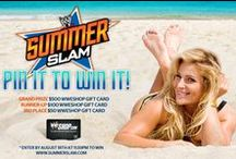 SummerSlam Pin It To Win It 2013 / For a chance to win a $500, $100 or $50 WWEShop gift card, visit: http://woobox.com/6pda6r! Don't forget to watch the SummerSlam LIVE August 18th! For more info go to SummerSlam.com