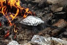 """Eat...Camping / Recipes for our upcoming camping adventures! Includes kitchen and dish cleanup and fire building. I've linked to the """"real"""" recipes, not click bait (20 camping recipes with no recipes!)"""