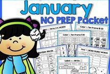 January / Ideas, activities and lessons for Pre-K through Elementary that are geared for the month of January.