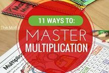 Multiplication / Fun ideas and printable worksheets for teaching multiplication and division.