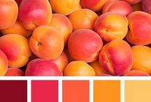Color Inspiration in Orange / All those gorgeous color combinations that belong to orange, fire, warm colors