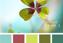 Color Inspiration in Green / All those gorgeous color combinations that belong to green, nature, gardens, pastels and vintage