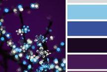 Color Inspiration in Purple / All those gorgeous color combinations that belong to purple, deep lilacs, soft pastels, cristals, warm colors