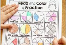 Fractions / Activities and printable worksheets to help teach students about fractions.