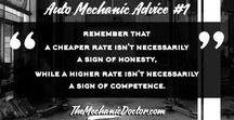 Auto Mechanic Advice by themechanicdoctor.com / Best auto mechanic advice for auto mechanics, car enthusiast and car repair shop customers.