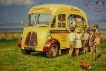 Ice Cream Vans / We just love them, colorful, cheerful, and allways a treat.