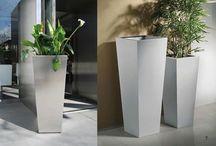 flower pots / Paslanmaz çelik saksı modelleri