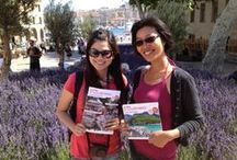 Chinese tourists in Provence! / Chinese love Provence and Lavande. Look at them on their Sina Weibo :) Les touristes chinois adorent la Provence et la Lavande, regardez les sur leurs Sina Weibo :)