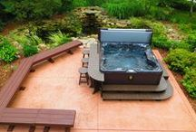 A&B's Custom Made Products / Custom Hot Tub & Spa Accessories, Surrounds, Outdoor Bars & Tables, Stools, Steps, Outdoor Kitchens, Big Green Egg  HDPE
