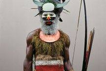 Masks / #afrika #newguinea #people