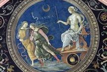 Celestial halls & ceilings / Paintings thematically connected to astrology and astrological mythology, found in various historical places, e.g. in ancient Egypt thombs or Renaissance palaces in Europe.