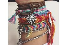 Arm Candy!! / I am never without a bracelet or two  / by Amanda Benitez