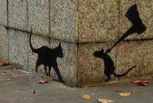 Sokak Sanatı / Sokak duvarlarını, yolları, sokaktaki cisimleri tuvale dönüştürerek  sanat...