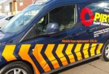 vehicle graphics / ...the most cost effective form of advertising, have your corporate image seen by potentially thousands of people everyday.
