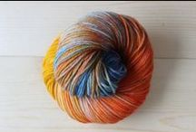 Chaleur Hand Dyed Yarn / Chaleur Hand Dyed Yarn specializes in individually dyed, high quality wool yarn.  We have sock yarns in gradient, self striping and variegated.