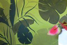 Κουζίνα - καθιστικό, ζωγραφική στον τοίχο / Ιδέες διακόσμησης εσωτερικού χώρου με ζωγραφική σε τοίχο