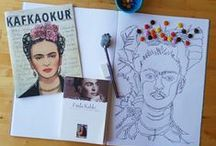 f  r  i  d  a / Magdalena Carmen Frida Kahlo Calderon (6 Temmuz 1907 - 13 Temmuz 1954), Meksikalı Ressam, Kahlo, Diego, Paint, Mexico, Blue House, art