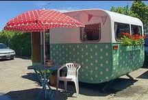 c  a  r  a  v  a  n / caravan, caravan life, karavan, trailer, van, procession, group, cortege, train