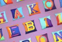Alphabet Cushions / Studio Hop Alphabet Cushion Collection
