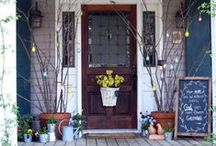 In Season: Spring / Spring has Sprung!  This board contains our favorite on trend spring decorations for the ultimate in curb appeal.
