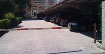 Parking Privado del Hotel Tres Anclas en la Playa de Gandia / Parking Privado, gratuito en temporada baja y de pago en temporada alta.
