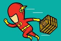 Part-Time Superheroes / If Superheroes Had Part-Time Jobs…