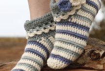 Crochet foot wear