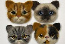 felted cat / filcowane kotki