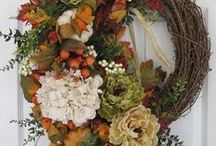 flowers and wreaths