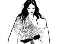 Gushlow and Cole Fashion Illustrations / An appreciation of talented designers & illustrators. www.gushlowandcole.com