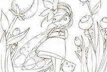 Coloriages petits & grands / by marigmay