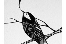Black & white abstract art
