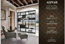 ALIVAR: Коллекция Home project на I SALONE в Милане / Стенд компании ALIVAR на апрельской выставке SALONE DEL MOBILE 2016 демонстрировал новинки мебели из коллекции Home project в стиле минимализма