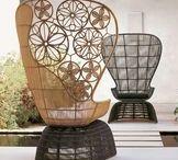 B&B Italia: Дизайнерская мебель для открытых пространств от Патрисии Уркиола (PATRICIA URQUIOLA) / В ассортименте мебели Outdoor компании B&B Italia особой популярностью пользуются две коллекции - CRINOLINE и CANASTA, мебель из которых выглядит на природе особенно нарядной и воздушной