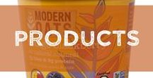 Products / SUPERFOOD. SUPER FAST. Modern Oats is made from gluten free certified, small farm whole rolled oats, and blended with antioxidant rich berries, nuts, chocolate, and more..